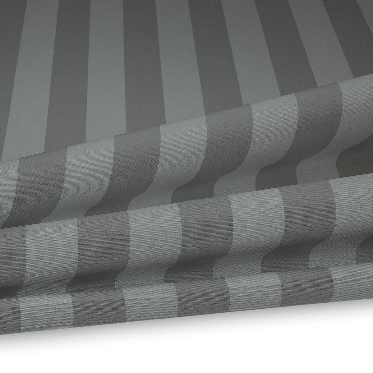 Artikelbild Outdoor Polsterstoff Streifen 5cm Für Gartenmöbel, Kissen  Breite 160cm 240g/m² Weiss/